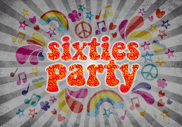 Sixties Party ist Flower-Power