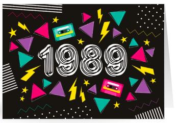 Einladung zum 30. Geburtstag im Stil der Achtziger