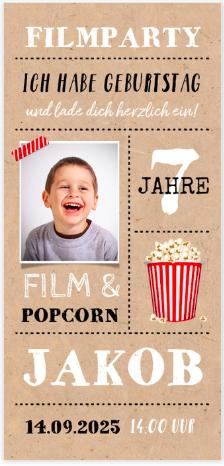 Filmparty für Kids. Kino zu Hause.