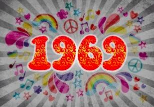 Einladung zur Sixties Party Flower Power
