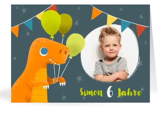 Einladung zur Dino Party
