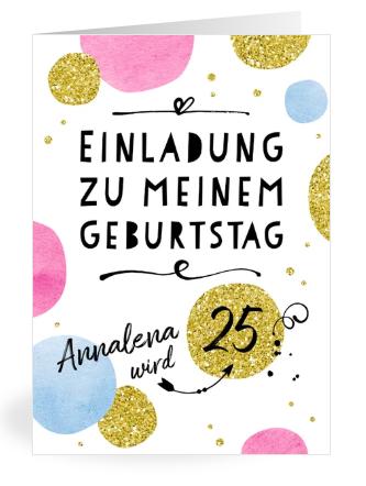 Einladung Geburtstag 25 Jahre