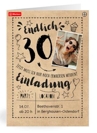 Vorlagen zum 30. Geburtstag