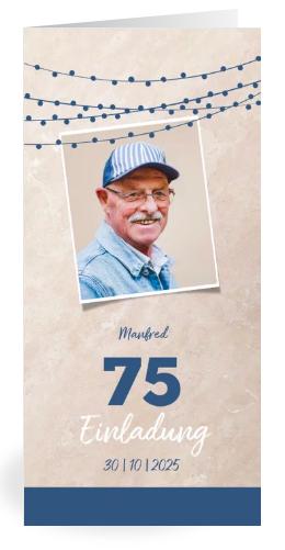 Vorlagen zum 75. Geburtstag: Einladungen