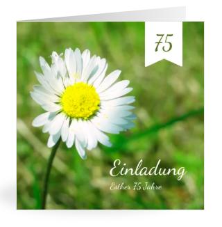 Vorlagen zum 75. Geburtstag : Einladungen