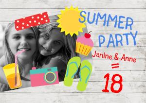 Einladung Geburtstag 18 Jahre: Sommerfest
