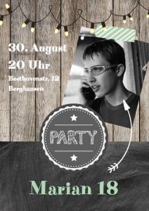 Einladung Geburtstag 18 Jahre: Coole Einladung