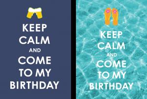 Einladung Geburtstag 25 Jahre: Karten mit Keep Calm Motto