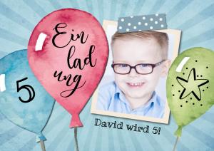 Geburtstagseinladung für Kinder