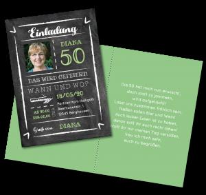 Einladungstexte zum 50. Geburtstag: Einladung mit Foto