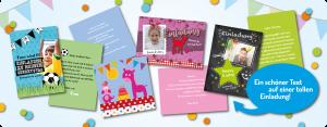 Einladungstexte zum Kindergeburtstag: Einladungen für Kinder