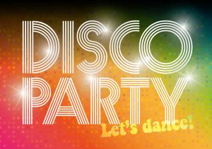 Vorlagen zum 30. Geburtstag: Einladungskarte zur Discoparty in 70er-Jahre Look