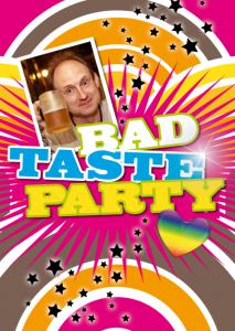 Vorlagen zum 30. Geburtstag: Einladung im Bad-Taste-Stil mit Foto