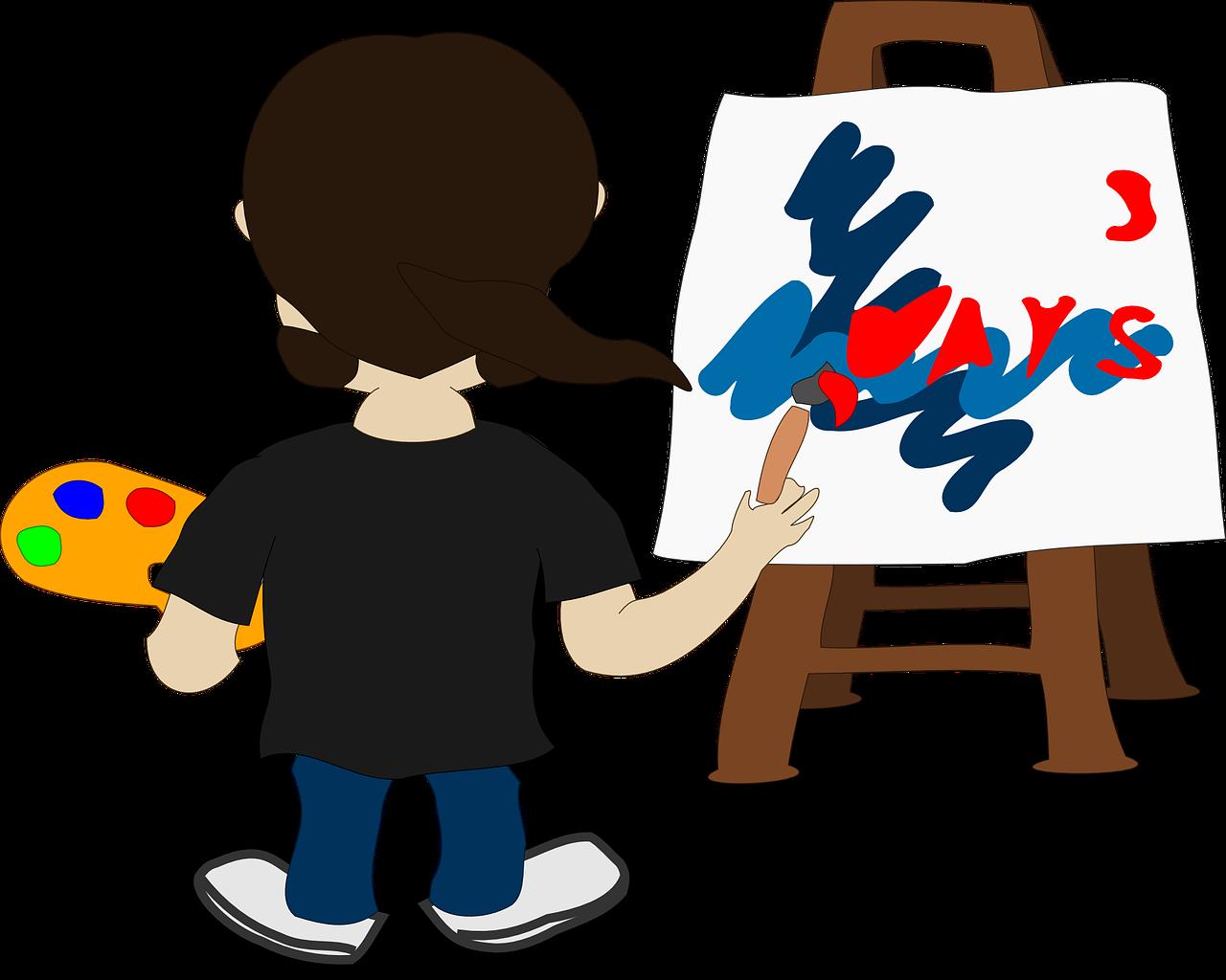 Malen und Experimentieren am Kindergeburtstag